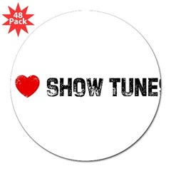 "I * Show Tunes 3"" Lapel Sticker (48 pk)"