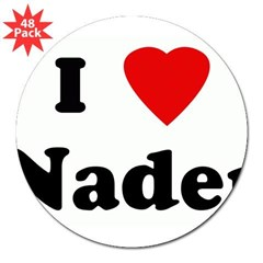 "I Love Nader 3"" Lapel Sticker (48 pk)"