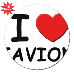 "I love Javion Rectangle 3"" Lapel Sticker (48 pk)"