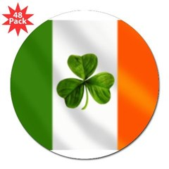 "Irish Shamrock Flag 3"" Lapel Sticker (48 pk)"