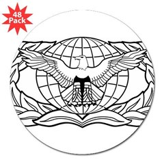 "Force Protection Badge Rectangle 3"" Lapel Sticker (48 pk)"