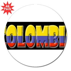 "Word Art Flag of Colombia 3"" Lapel Sticker (48 pk)"