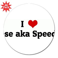"I Love Jose aka Speedy 3"" Lapel Sticker (48 pk)"
