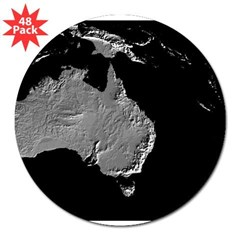 "Australia Relief Map Rectangle 3"" Lapel Sticker (48 pk)"