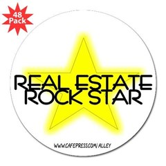 "Real Estate Rock Star Oval 3"" Lapel Sticker (48 pk)"