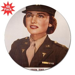 "Army Nurse Corps Rectangle 3"" Lapel Sticker (48 pk)"