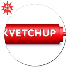 "Kvetchup 3"" Lapel Sticker (48 pk)"