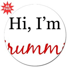 "Hi, I am Brummie 3"" Lapel Sticker (48 pk)"