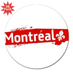 "'Montreal' Rectangle 3"" Lapel Sticker (48 pk)"