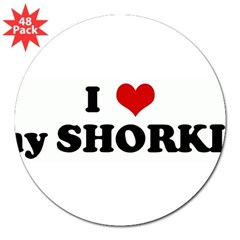 "I Love my SHORKIE 3"" Lapel Sticker (48 pk)"