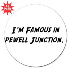 "Famous in Hopewell 3"" Lapel Sticker (48 pk)"