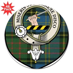 "MacMillan Clan Crest Tartan Rectangle 3"" Lapel Sticker (48 pk)"