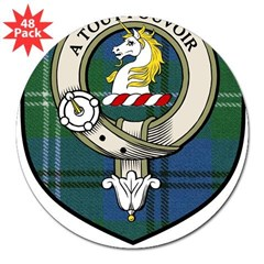 Oliphant Clan Crest Tartan Rectangle 3&quot; Lapel Sticker (48 pk)
