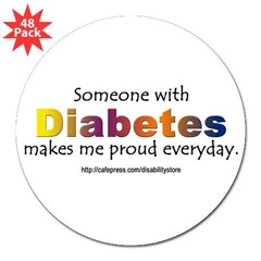 "Diabetes Pride 3"" Lapel Sticker (48 pk)"