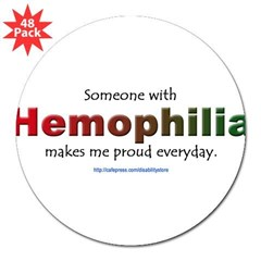 "Hemophilia Pride Rectangle 3"" Lapel Sticker (48 pk)"