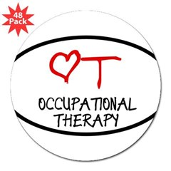 "Occupational Therapy Heart Oval 3"" Lapel Sticker (48 pk)"