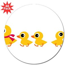 "Distracted Duck Rectangle 3"" Lapel Sticker (48 pk)"