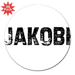 "Jakobe Rectangle 3"" Lapel Sticker (48 pk)"