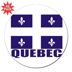 "Quebec 3"" Lapel Sticker (48 pk)"