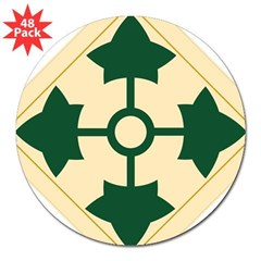 "4th Infantry Division Rectangle 3"" Lapel Sticker (48 pk)"
