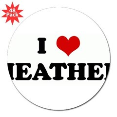 "I Love HEATHER 3"" Lapel Sticker (48 pk)"