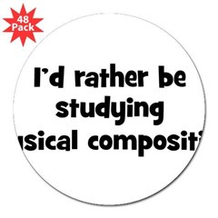 "Study musical composition 3"" Lapel Sticker (48 pk)"