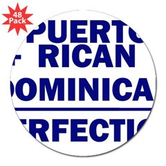 "Dominican + Puerto Rican Rectangle 3"" Lapel Sticker (48 pk)"