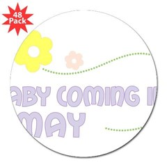 "Due in May Rectangle 3"" Lapel Sticker (48 pk)"