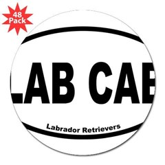 "Lab Cab Oval 3"" Lapel Sticker (48 pk)"