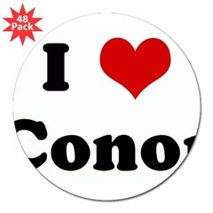 "I Love Conor 3"" Lapel Sticker (48 pk)"