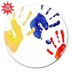 "Colombian hands 3"" Lapel Sticker (48 pk)"