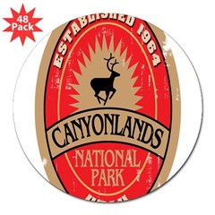 "Canyonlands National Park Oval 3"" Lapel Sticker (48 pk)"