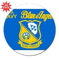 "The Navy Blue Angeles 3"" Lapel Sticker (48 pk)"