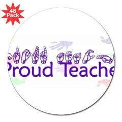 "Purple 3"" Lapel Sticker (48 pk)"