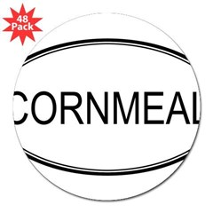 "CORNMEAL (oval) Oval 3"" Lapel Sticker (48 pk)"