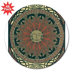 Sun and Moon Symbolism Rectangle 3&quot; Lapel Sticker (48 pk)
