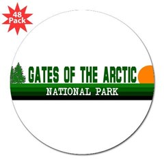 "Gates of the Arctic National Sticker (Rectangular 3"" Lapel Sticker (48 pk)"