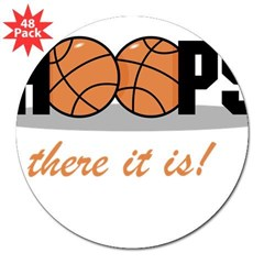 "Hoops There It Is Rectangle 3"" Lapel Sticker (48 pk)"