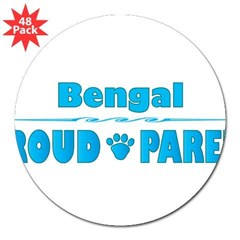 "Bengal Parent Rectangle 3"" Lapel Sticker (48 pk)"