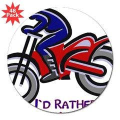 "...Riding My Bike... Rectangle 3"" Lapel Sticker (48 pk)"