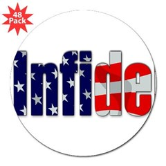 "Proud Infidel Rectangle 3"" Lapel Sticker (48 pk)"