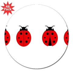 "Ladybugs Rectangle 3"" Lapel Sticker (48 pk)"