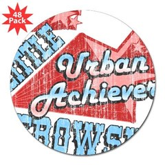 "Lebowski Urban Achiever Rectangle 3"" Lapel Sticker (48 pk)"