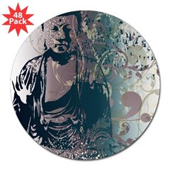 "Pretty Buddha Rectangle 3"" Lapel Sticker (48 pk)"