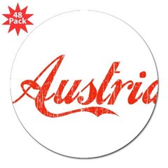 "Vintage Austria Rectangle 3"" Lapel Sticker (48 pk)"