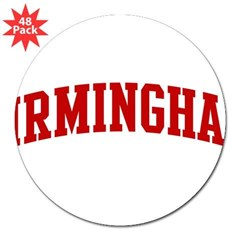 "BIRMINGHAM (red) 3"" Lapel Sticker (48 pk)"