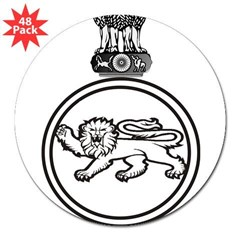 "The Sikh Regiment Emblem Rectangle 3"" Lapel Sticker (48 pk)"