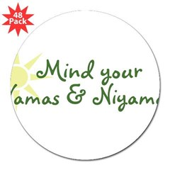"YogaMoxie 3"" Lapel Sticker (48 pk)"