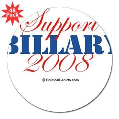"2008 Election Candidates Rectangle 3"" Lapel Sticker (48 pk)"