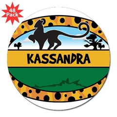 "KASSANDRA - safari 3"" Lapel Sticker (48 pk)"